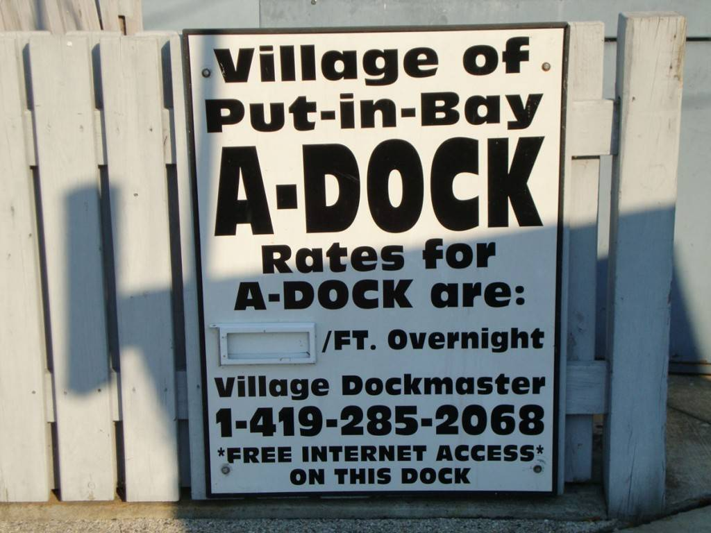 a dock put in bay