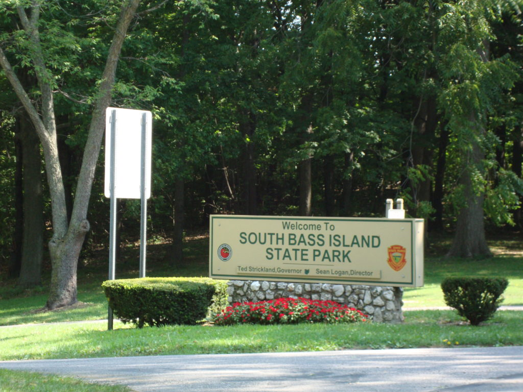 South Bass Island State Park, with official signage.