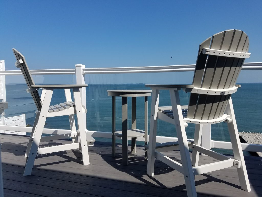 Views of Lake Erie from the Put-in-Bay Waterfront Condos.