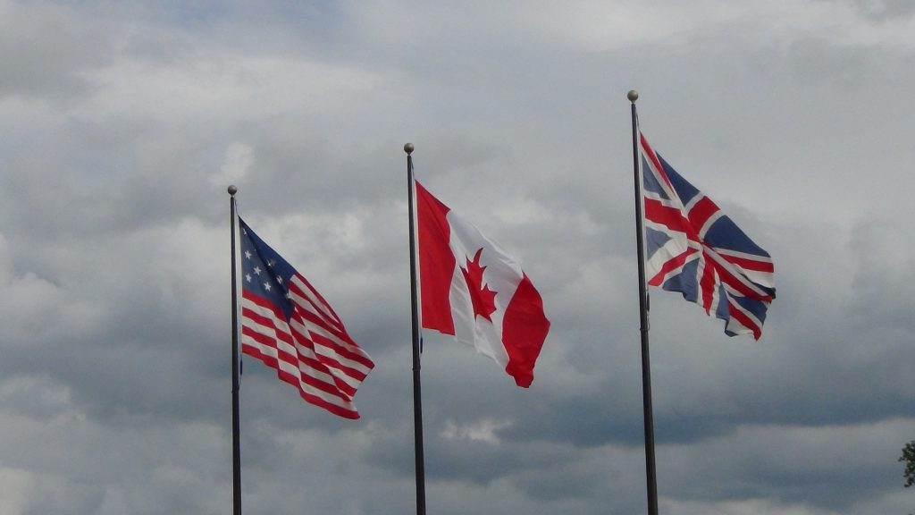 Three Country Flags