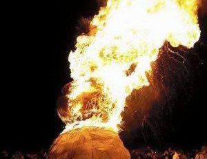 Burning Snowman 2019